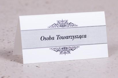 Winietki, wizytówki na stół z kolekcji Arte nr 5 - Klasyczny wzór z eleganckim zdobieniem