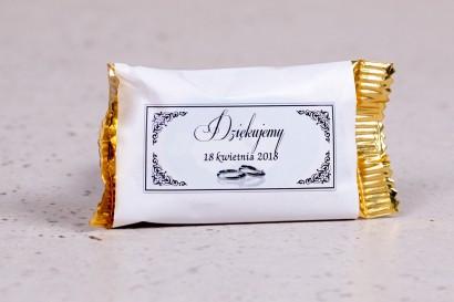 Ślubne czekoladki to słodkie podziękowania dla gości weselnych - kolekcja Arte nr 3