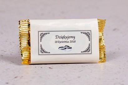 Ślubne czekoladki to słodkie podziękowania dla gości weselnych - kolekcja Arte nr 4 - wersja ecru