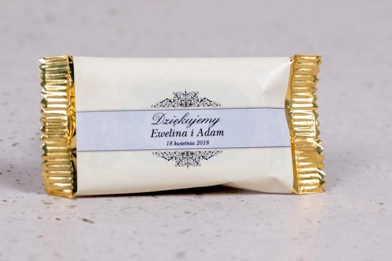Ślubne czekoladki to słodkie podziękowania dla gości weselnych - kolekcja Arte nr 6 - wersja ecru