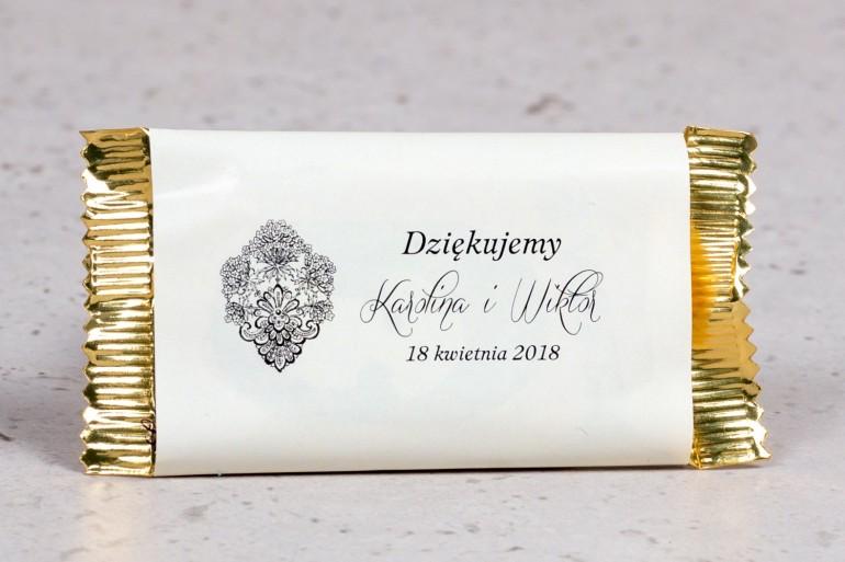 Ślubna czekoladka jako podziękowanie dla gości weselnych z kolekcji Moreno nr 6