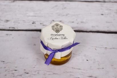 Słoiczek z miodem - słodki upominek dla gości weselnych - Moreno nr 4
