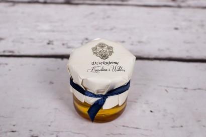 Słoiczek z miodem - słodki upominek dla gości weselnych - Moreno nr 8
