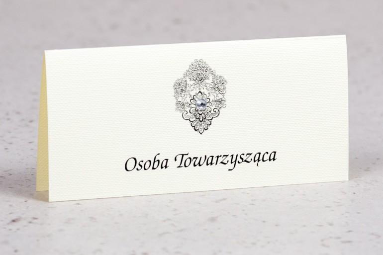 Ślubne winietki, wizytówki na stół weselny w eleganckim stylu - kolekcja Moreno nr 8