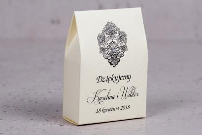 Ślubne pudełeczko na słodkości dla gości weselnych z kolekcji Moreno nr 8