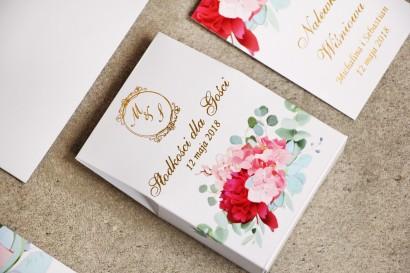 Ślubne pudełeczko na słodkości dla gości weselnych z kolekcji Sorento nr 14