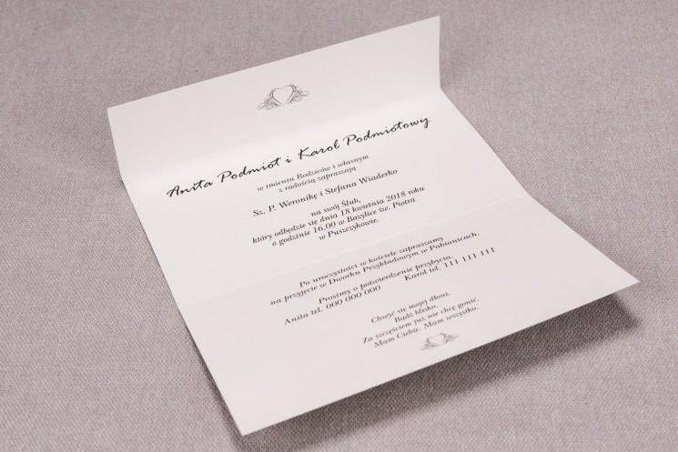 Wnętrze zaproszenia ślubnego Madras nr 2