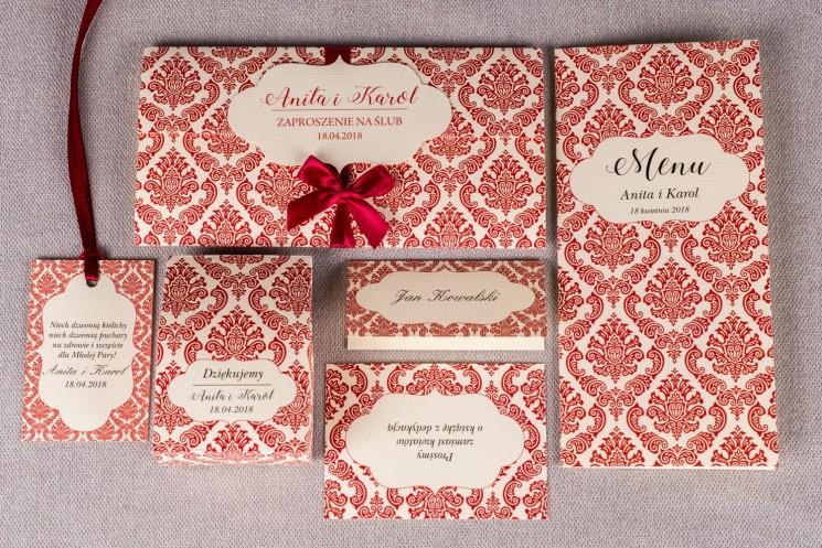 Zestaw próbny zaproszeń ślubnych Madras nr 5