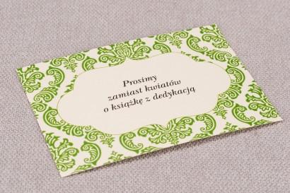 Bilecik do zaproszeń ślubnych Madras nr 3 - kolor zielony