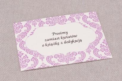 Bilecik do zaproszeń ślubnych Madras nr 4 - kolor różowy