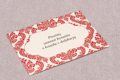 Bilecik do zaproszeń ślubnych Madras nr 5 - kolor czerwony