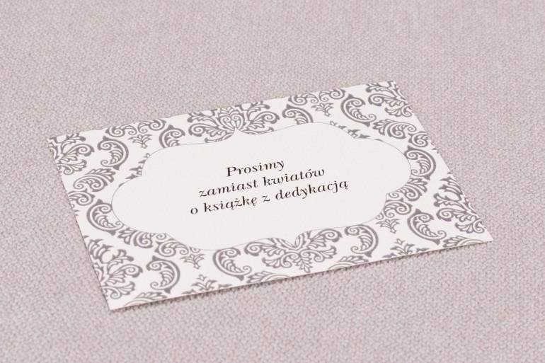 Bilecik do zaproszeń ślubnych Madras nr 6 - kolor szary