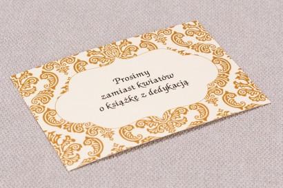 Bilecik do zaproszeń ślubnych Madras nr 7 - kolor ciepły brązowy