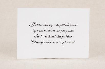 Bilecik do zaproszenia ślubnego z kolekcji Klaris nr 1