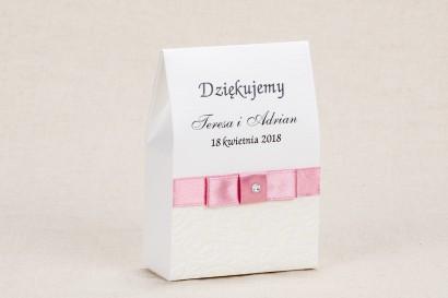 Ślubne pudełeczka na słodkości dla gości weselnych - Klasyczne winietki z białą koronką