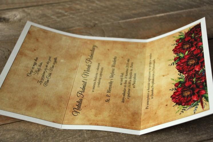 kolekcja karmelowe - zaproszenia ślubne