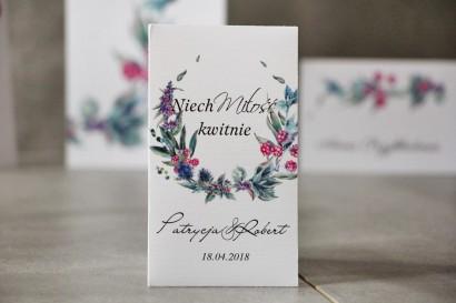 Podziękowania dla Gości weselnych - Nasiona Niezapominajki - Pistacjowe nr 17 - Leśne owoce