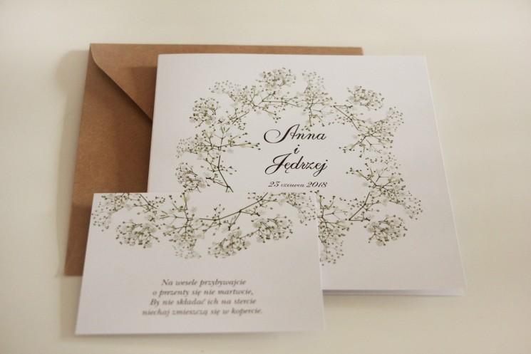 Rustykalne Zaproszenia ślubne Z Gipsówką Kalia Nr 10 Amelia Wedding