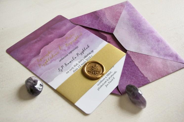 zaproszenia ślubne ze złoceniem