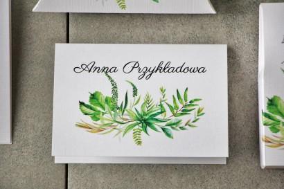 Winietki na stół weselny, ślub - Pistacjowe nr 20 - Intensywnie zielona polna trawa, greenery