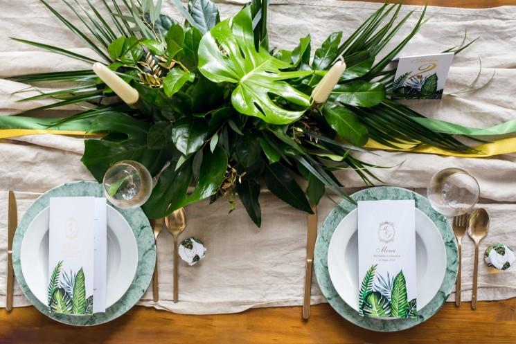 Dodatki, podziękowania dla gości weselnych w stylu greenry