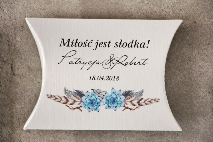 podziękowania dla gości ślubnych boho