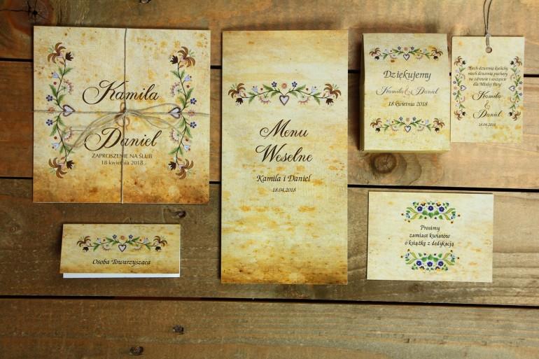 Ślubne numery stołów Ornament Numery