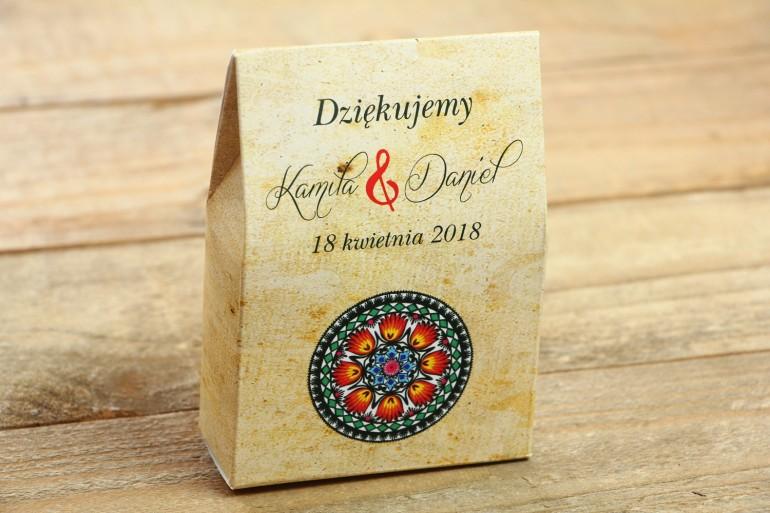 Ślubne upominki dla gości Torebeczki z nasionami - Pistacjowe
