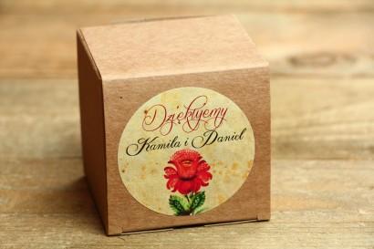 Podziękowania i upominki dla gości weselnych - ludowe Eco Pudełeczko z folklorystyczną kwiatową grafiką