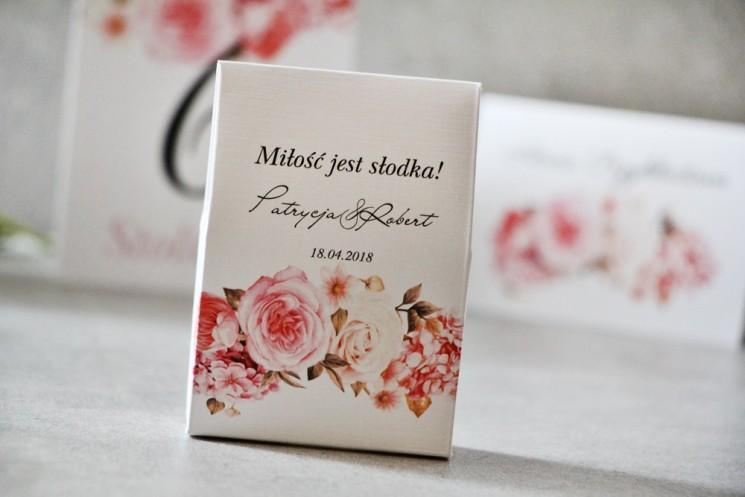 podziękowania dla gości weselnych hortensja
