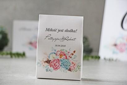 Pudełeczko stojące na cukierki, podziękowania dla Gości weselnych - Pistacjowe nr 23 - Boho w odcieniach pastelowych