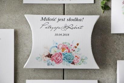 Pudełeczko poduszeczka na cukierki, podziękowania dla Gości weselnych - Pistacjowe nr 24 - Pastelowe w stylu boho