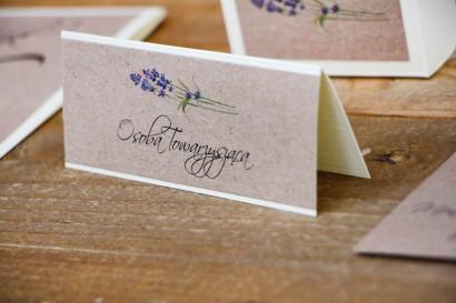 Winietki na stół weselny, ślub - Margaret nr 1 - Ekologiczne - Jesienna lawenda