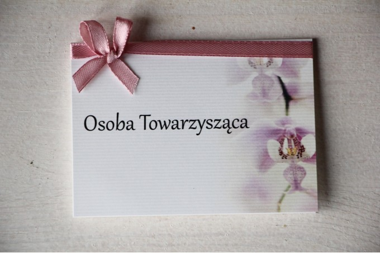 Ślubne Winietki na stół weselny z orchideą