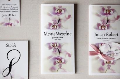 Kwiatowe Menu Weselne z orchideą