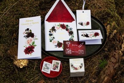 Zaproszenia ślubne ze złoceniem wraz z dodatkami i podziękowaniami dla gości - Orini nr 1