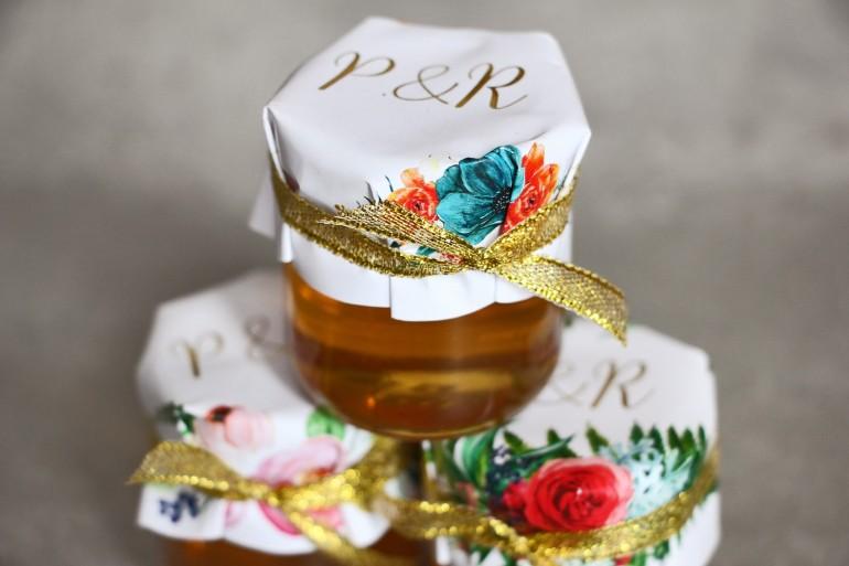 Ślubne podziękowania dla gości Presto - Słoiczki z Miodem