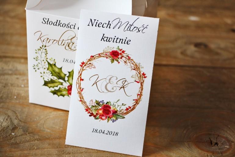 Podziękowania dla Gości weselnych - nasiona Niezapominajki - Akwarele nr 3 - Zimowo-świąteczne