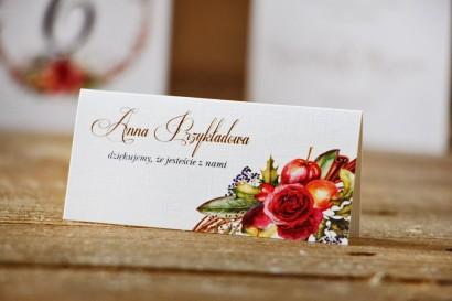 Winietki na stół weselny, ślub - Akwarele nr 3 - Zimowo-świąteczna kompozycja