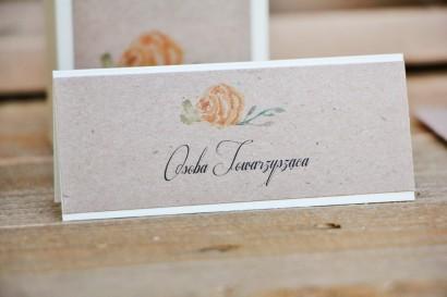 Winietki na stół weselny, ślub -  Margaret nr 3 - Ekologiczne - Żółta róża, kwiatowe