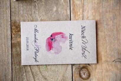 Podziękowania dla Gości weselnych - nasiona Niezapominajki - Margaret nr 5 - Różowy mak