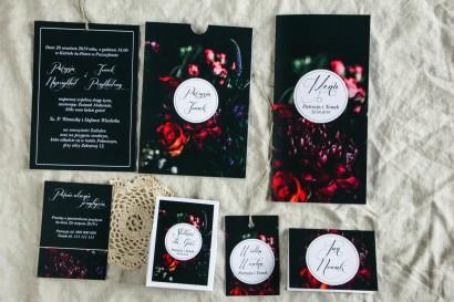 Zestaw próbny kwiatowych zaproszeń ślubnych - Botanik nr 5