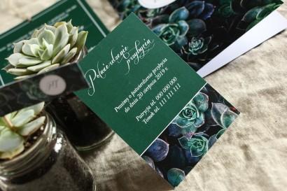 Bilecik do botanicznych zaproszeń ślubnych. Grafika z eukaliptusami