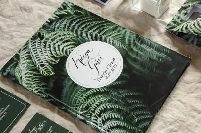 Weselna Księga Gości - W stylu Botanicznym z liśćmi paproci
