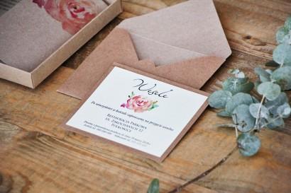 Bilecik dwuwarstwowy prezenty wesele - Margaret nr 6 - Ekologiczne - Brzoskwiniowa róża