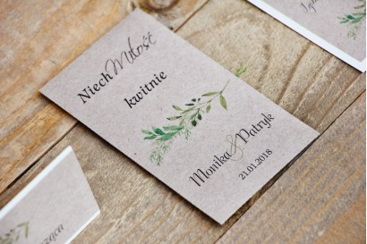 Podziękowania dla Gości weselnych - nasiona Niezapominajki - Margaret nr 7 - Intensywnie zielone gałązki