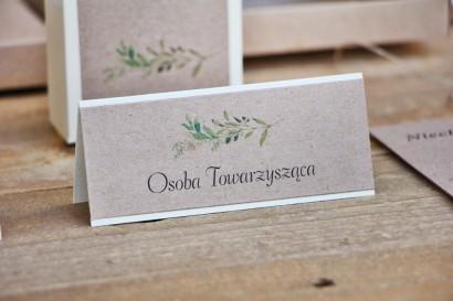 Winietki na stół weselny, ślub -  Margaret nr 7 - Ekologiczne - Delikatne zielone gałązki