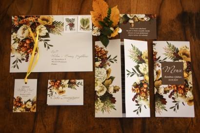 Zestaw próbny zaproszeń ślubnych wraz z podziękowaniami oraz dodatkami - Kolekcja Eteryczne