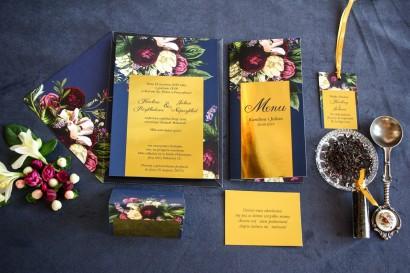 Zestaw próbny zaproszeń ślubnych w stylu Glamour - Laura nr 1
