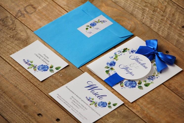 granatowe zaproszenia ślubne